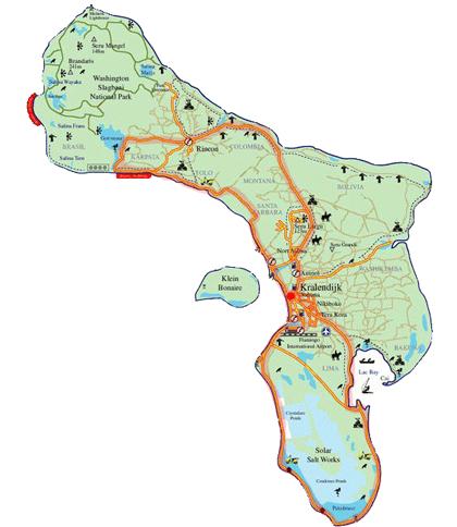 Map Bonaire