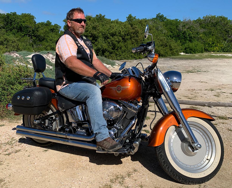 Harry on Harley Davidson